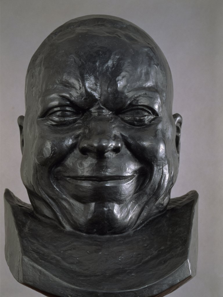 Stock Photo: 1158-2633 Slovakia, Bratislava, Galerie Nationale Slovaque, Heads of Characters, old Man With a Happy Smile by Franz Xaver Messerschmidt, (1736-1783)