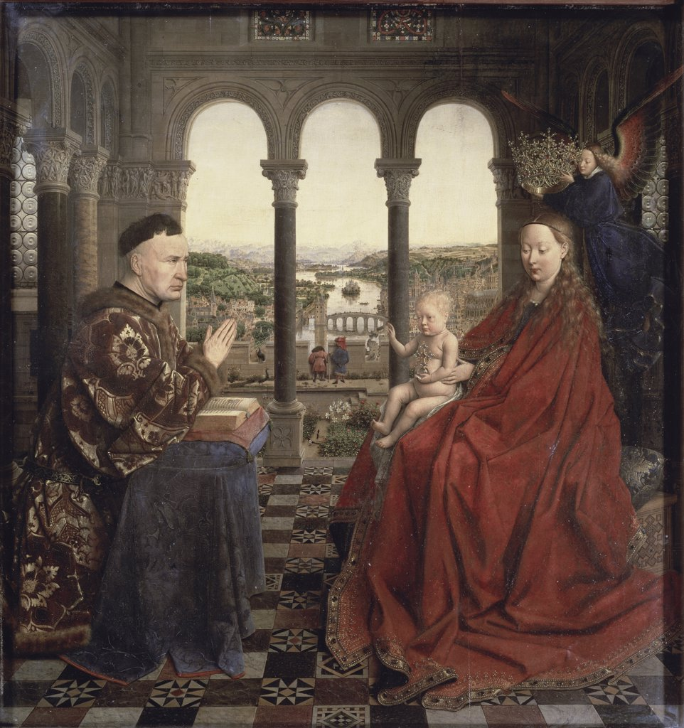 Stock Photo: 1158-2645 The Virgin of Chancellor Rolin