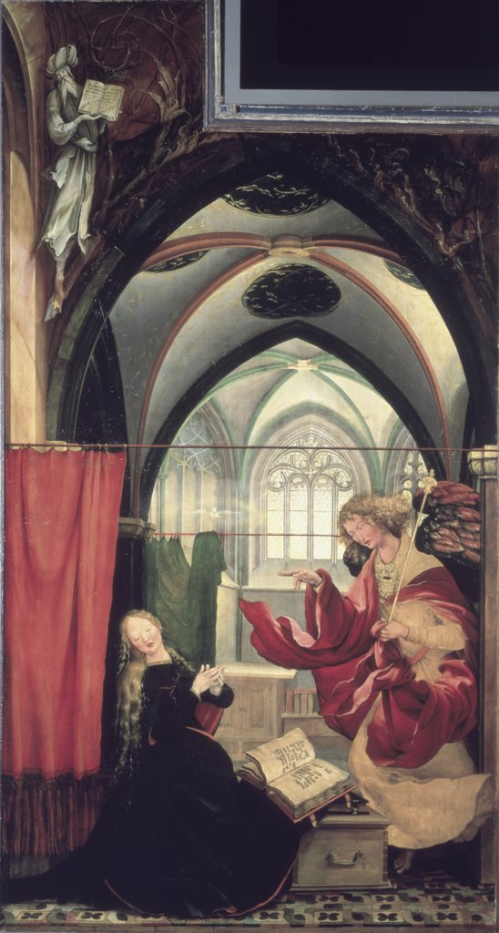 Stock Photo: 1158-2649 The Isenheim Altarpiece: Annunciation  