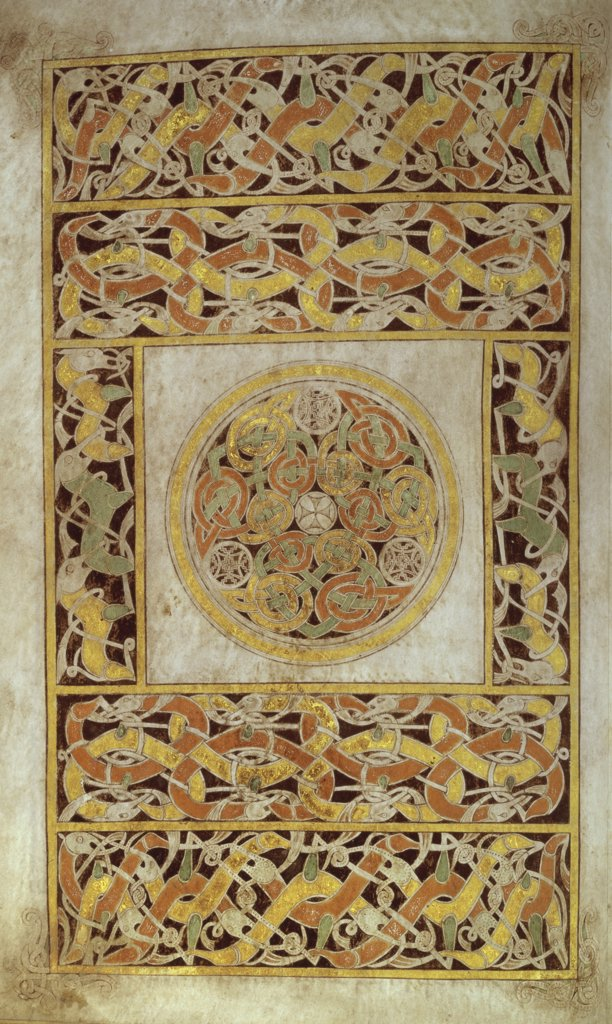 Stock Photo: 1158-2658 Carpet Page from Book of Durrow