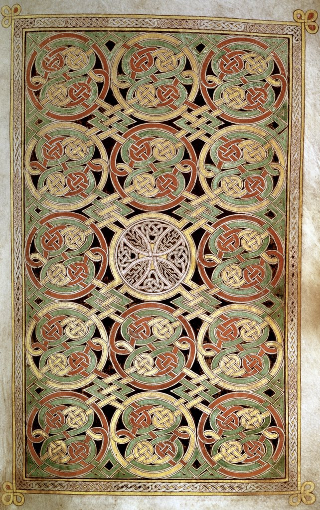Stock Photo: 1158-2685 Carpet Page from Book of Durrow