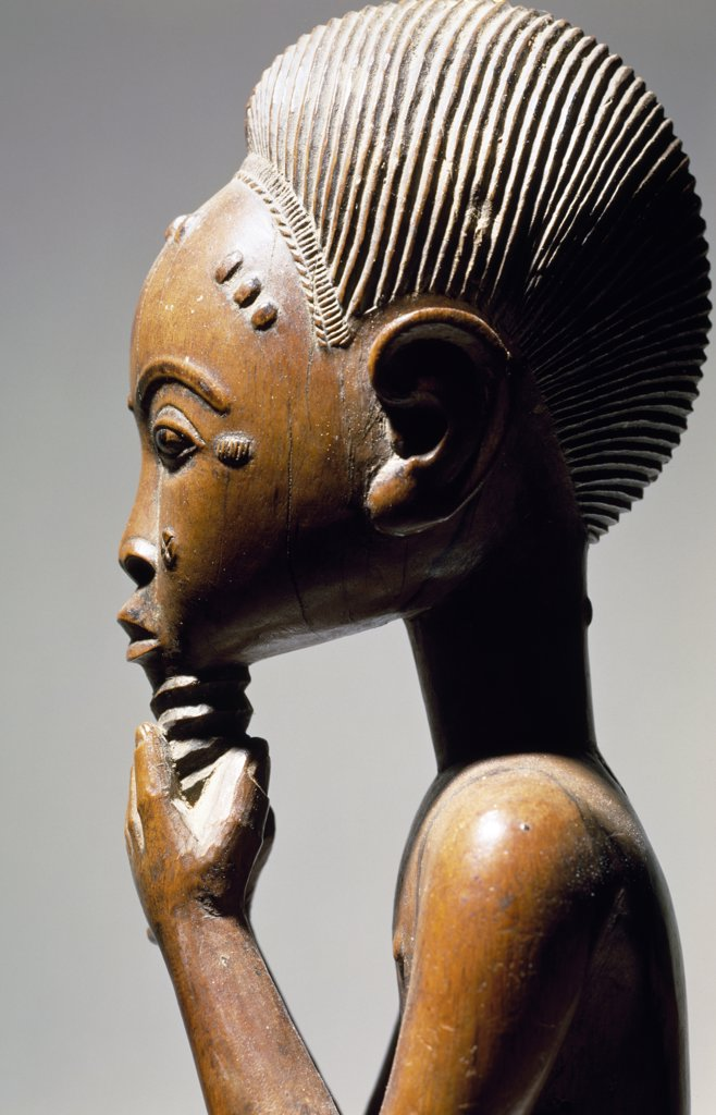 Stock Photo: 1158-2686 Masculine Figure, wood, African Art