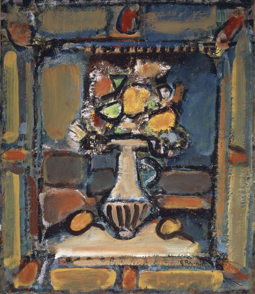 Stock Photo: 1158-2690 Still Life With Flowers by Georges Rouault, 1871-1958