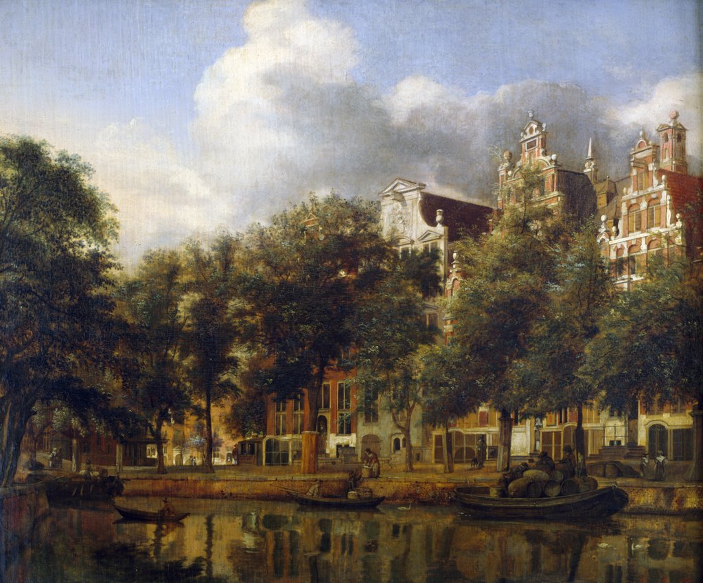 Stock Photo: 1158-2694 The Herengracht in Amsterdam by Jan van der Heyden, 1637-1712