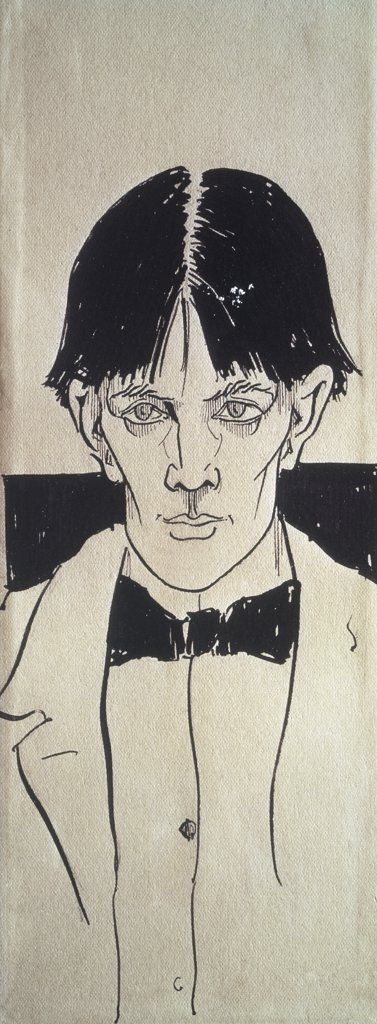 Self Portrait Late 19th Century Aubrey Vincent Beardsley (1872-1898 British) : Stock Photo