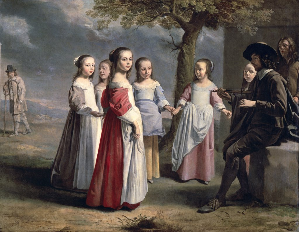 Stock Photo: 1158-748 The Children's Dance 1st Half of the 17th Century Antoine Le Nain (1588-1648 French) Private Collection, Paris, France