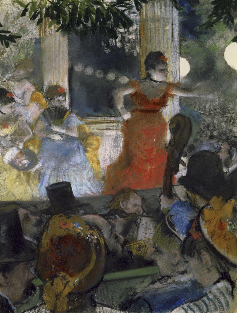 LE CAFE CONCERT DES AMBASSADEURS 1876-77 PASTEL Degas, Edgar 1834 d1917 French Musee des Beaux-Arts, Lyon, France  : Stock Photo