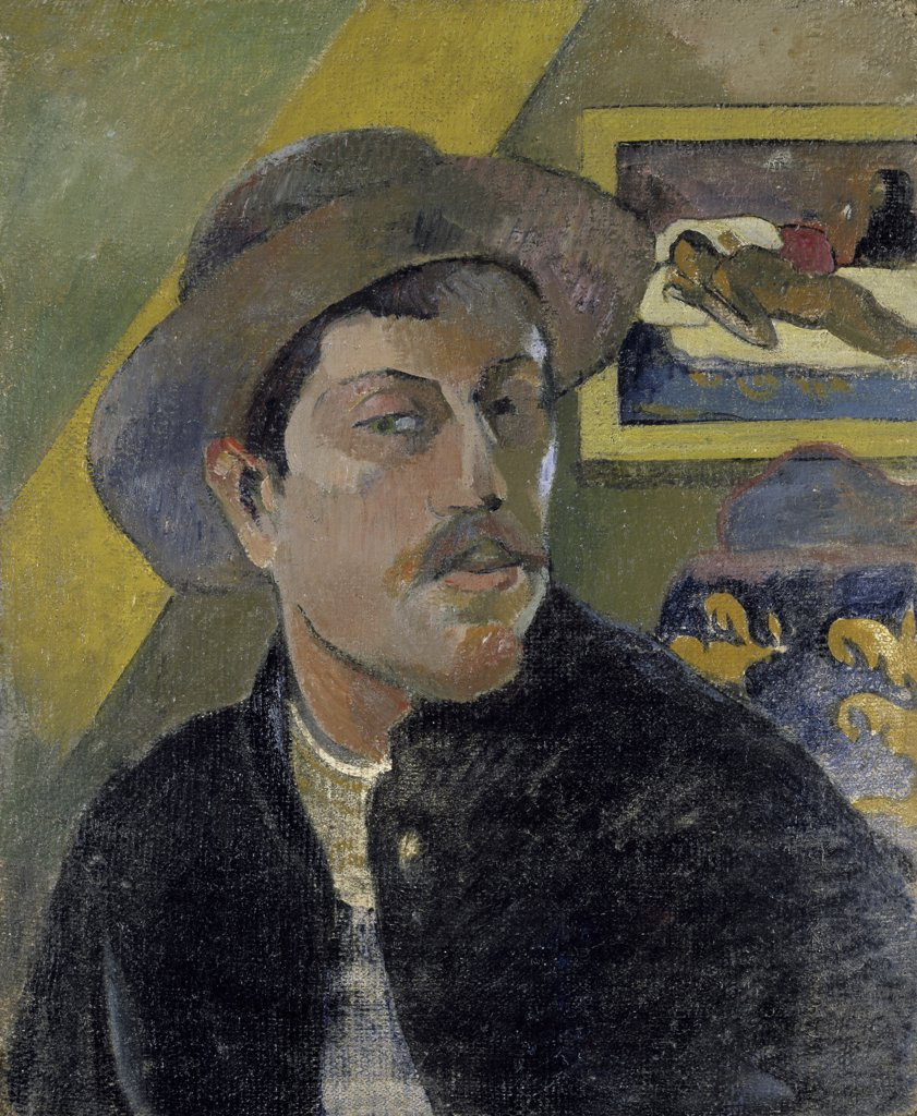 Portrait of the Artist, (Portrait de l'Artiste), Late 19th C., Paul Gauguin (1848-1903/French) : Stock Photo