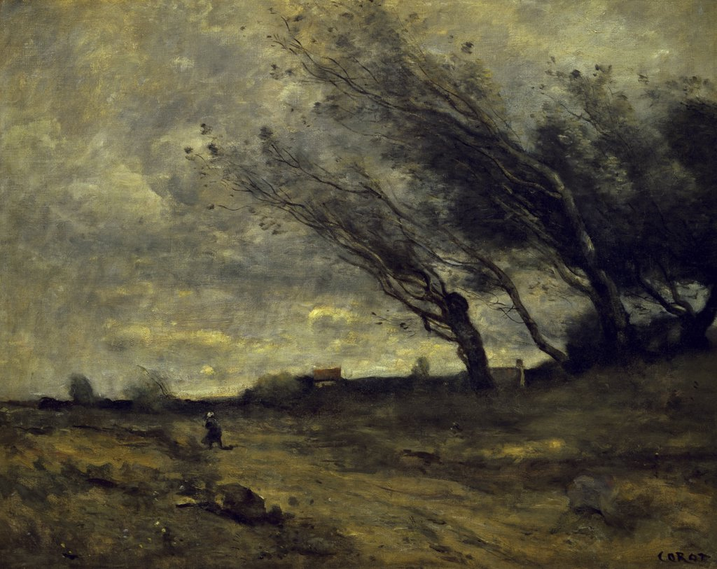 Stock Photo: 1158-879 A Gust of Wind 