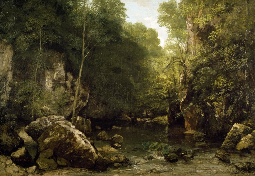 Stock Photo: 1158-895 The Hidden Stream by Gustave Courbet, (1819-1877), France, Paris, Musee d' Orsay