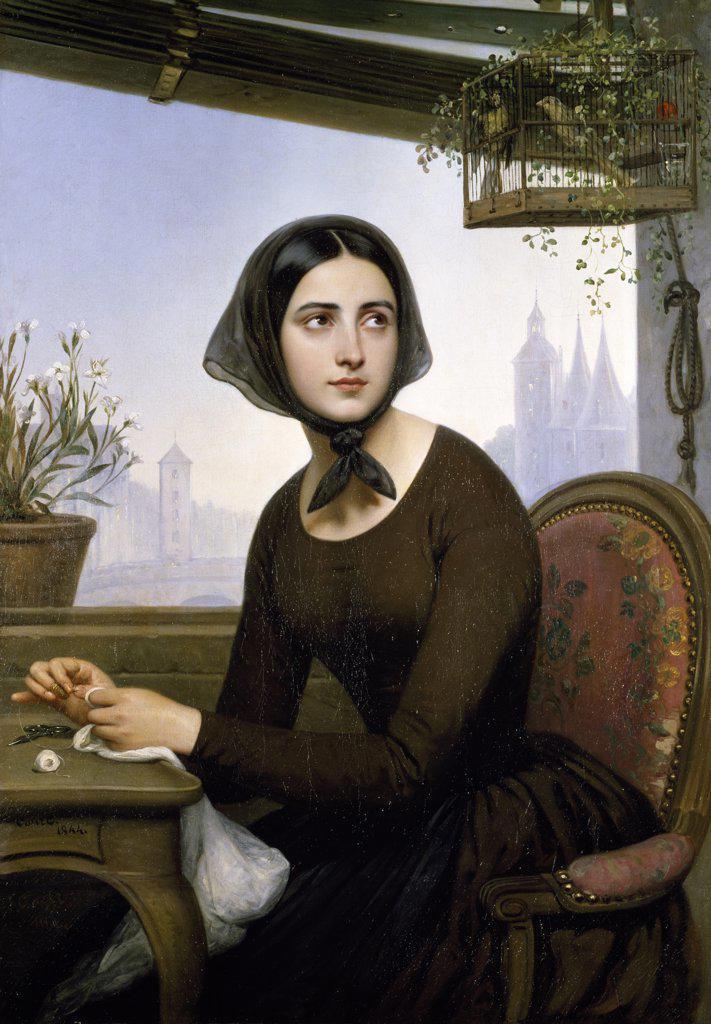 Stock Photo: 1158-898 Rigolette by Joseph Desire Court, (1797-1865)