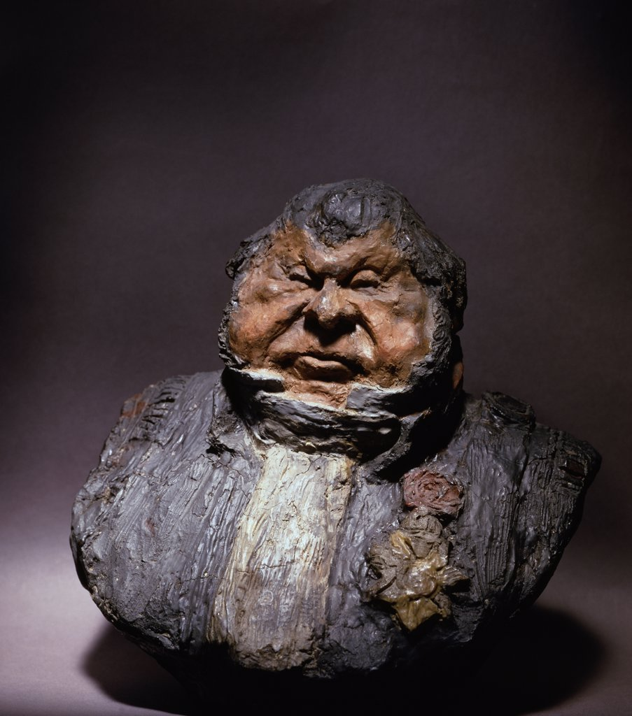 Stock Photo: 1158-903 Gros, Gras, Et Satisfait Big, Fat, And Satisfied Honore Daumier (1808-1879 French) Sculpture