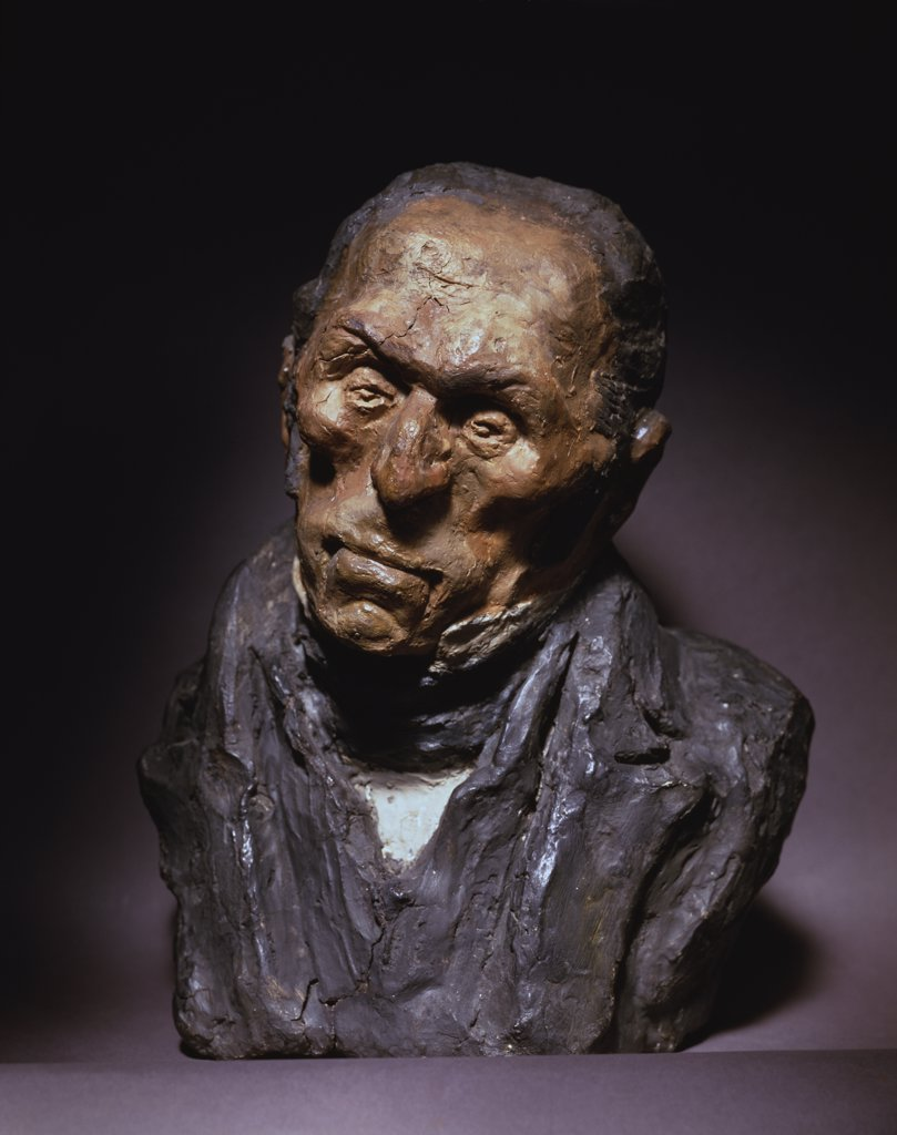 Stock Photo: 1158-904 L'Ennui Boredom Honore Daumier (1808-1879 French) Sculpture