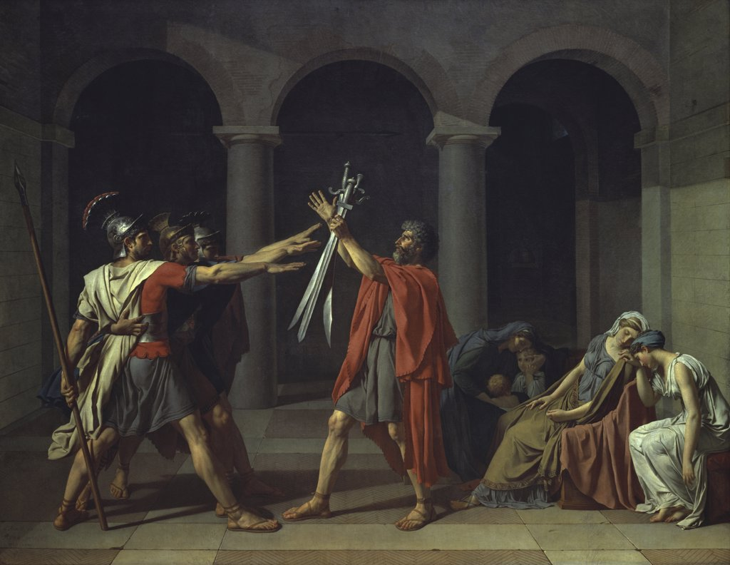 Stock Photo: 1158-922 Oath of the Horatii