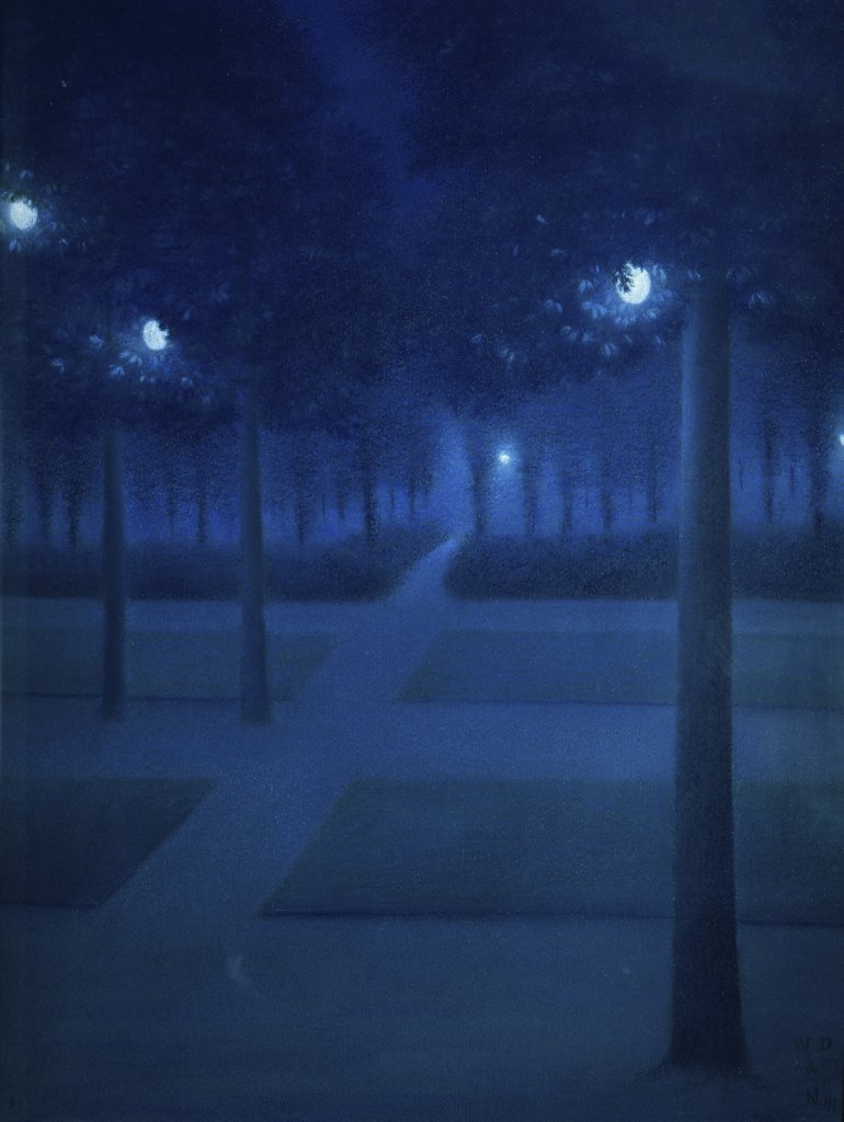 Night in the Parc Royal, Brussels 