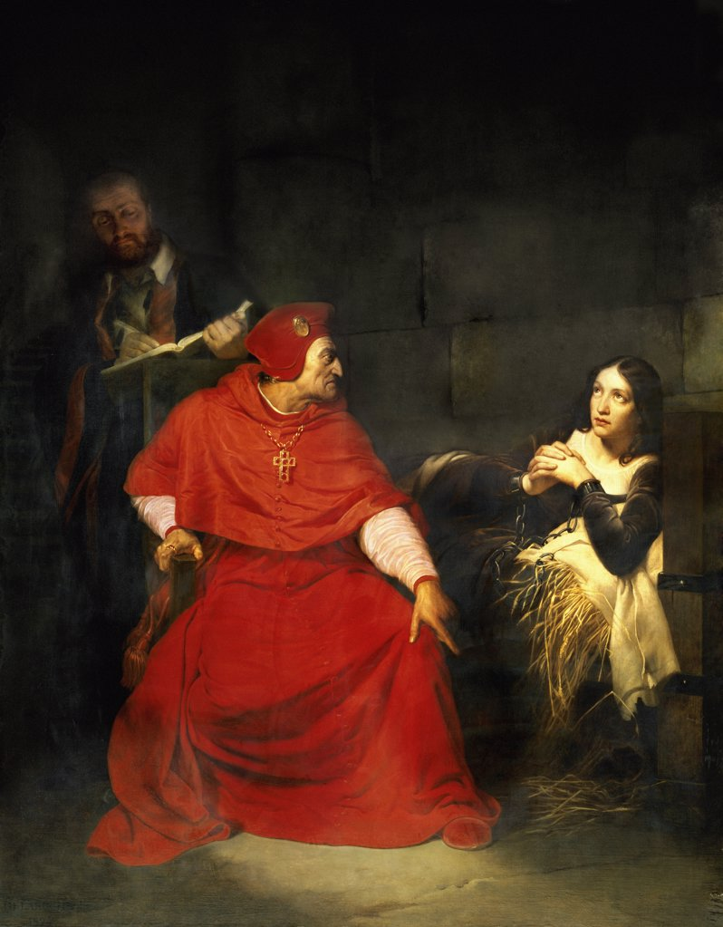 Stock Photo: 1158-950 Joan of Arc and the Cardinal of Winchester