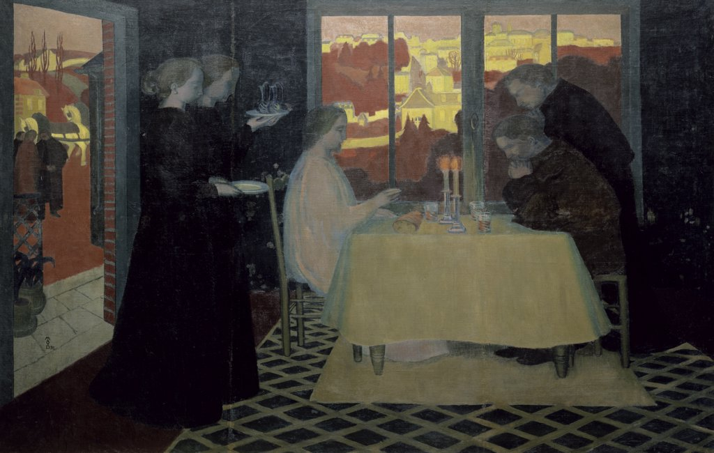Stock Photo: 1158-959 The Pilgrims of Emmaus by Maurice Denis, 1870-1943, France, St. Germain-en-Laye, Musee du Prieure