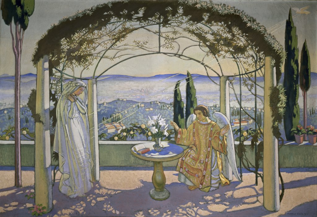 Stock Photo: 1158-962 Annonciation by Maurice Denis, 1870-1943, Private Collection