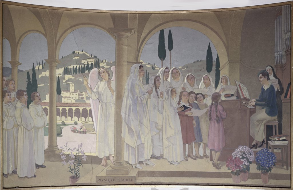 Stock Photo: 1158-968 Holy Music by Maurice Denis, 1937, 1870-1943, France, Paris, Palais de Chaillot