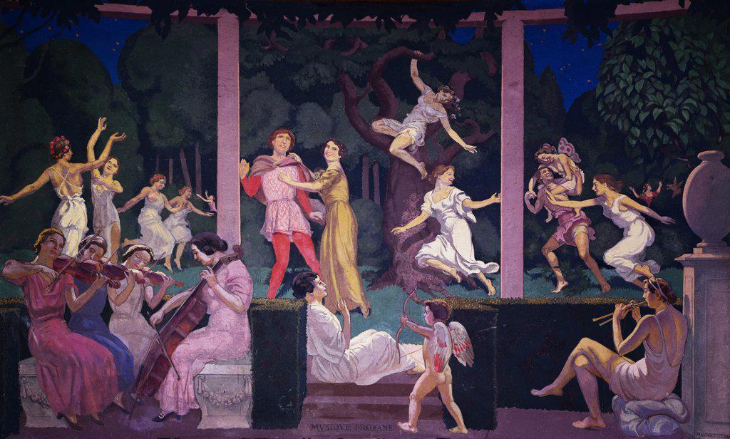 Stock Photo: 1158-969 Profane Music by Maurice Denis, 1937, 1870-1943, France, Paris, Palais de Chaillot
