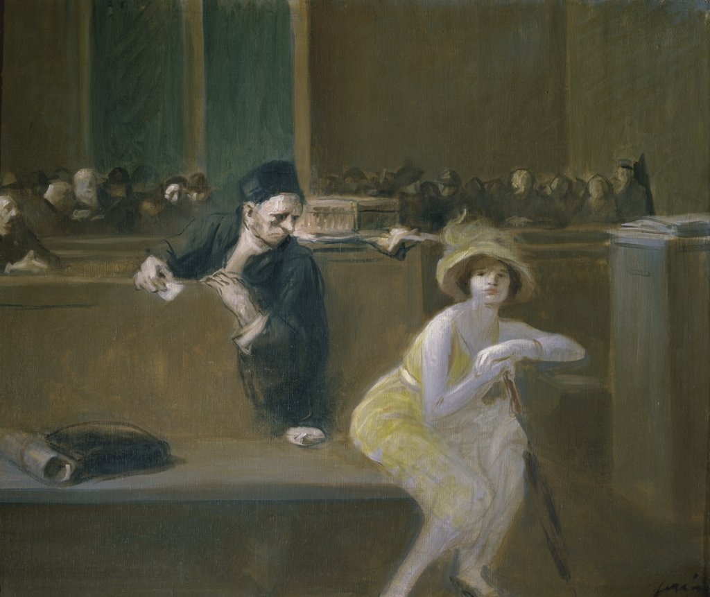 Stock Photo: 1158-983 Courtroom Scene 