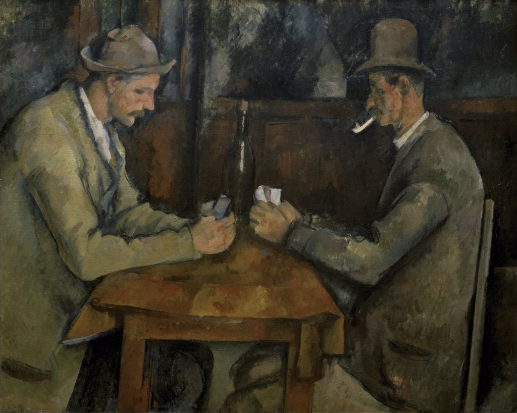 Stock Photo: 1158-992 The Card Players
