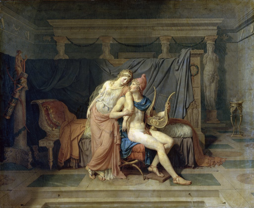 Stock Photo: 1158-995 The Love of Paris and Helen