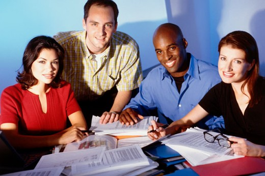 Stock Photo: 1166-281 Portrait of a group of business executives in an office