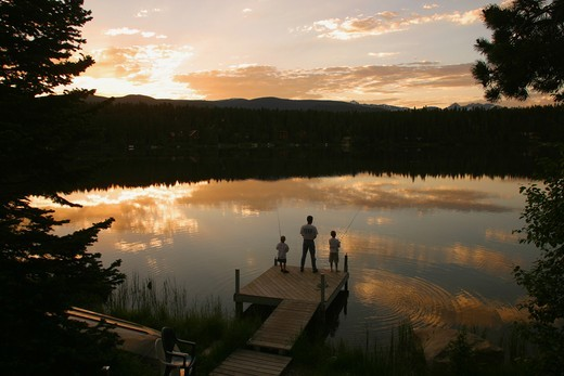 Stock Photo: 1176-609 Columbine Lake Colorado USA