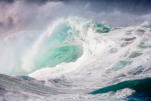 Stock Photo: 1176-684 Waves in the ocean, Waimea Bay, Oahu, Hawaii, USA