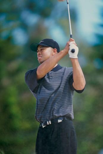 Stock Photo: 1176-W367A Tiger Woods, Mercedes Championship, Kapalua, Maui, Hawaii, USA