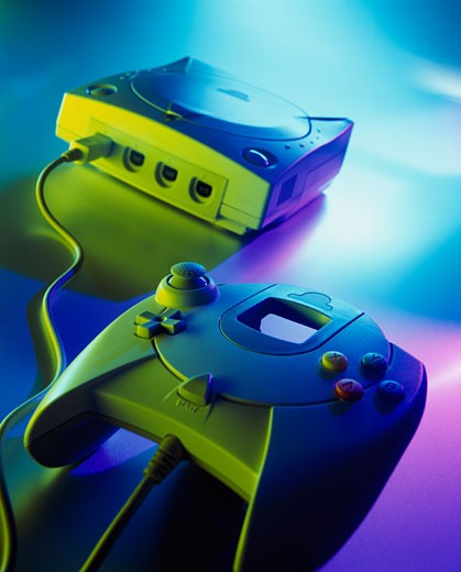 Stock Photo: 1183-226B Close-up of video game equipment