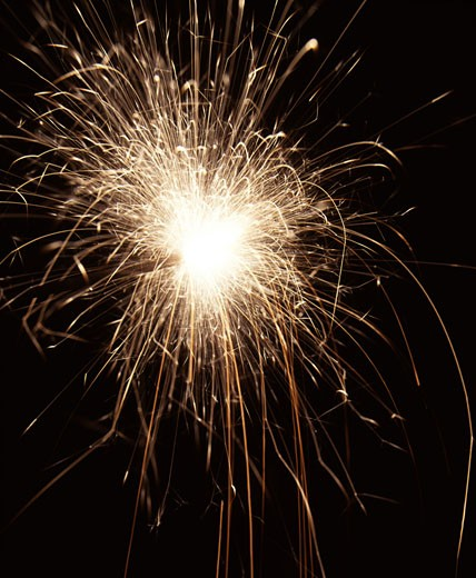 Stock Photo: 1183-448 Close-up of a fireworks display at night