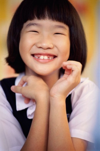 Stock Photo: 1188-1111 Portrait of a girl smiling