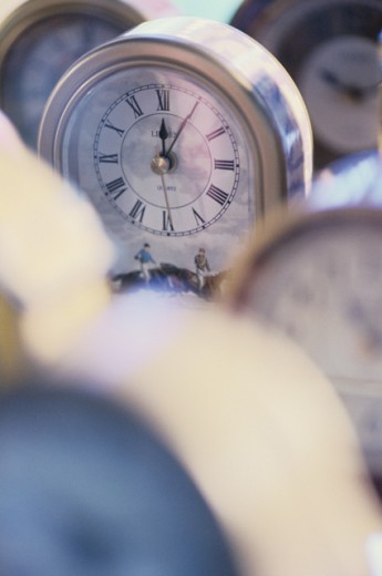 Stock Photo: 1189-4105 Close-up of a clock
