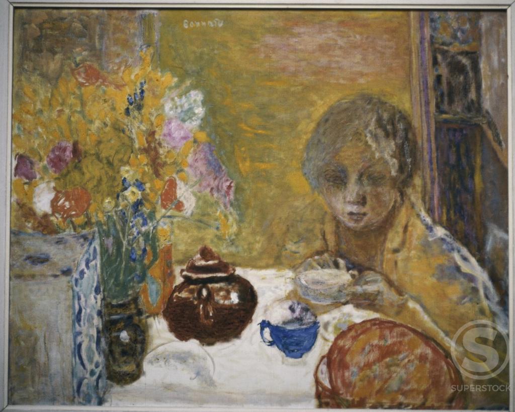 The Lunch by Pierre Bonnard, 1932, 1867-1947, France, Paris, Musee du Petit Palais : Stock Photo