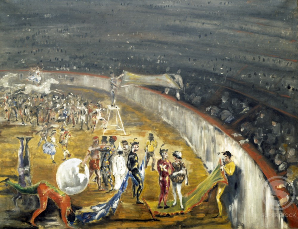 At the Circus by Max Jacob, 1912, 1876-1944, Private Collection : Stock Photo