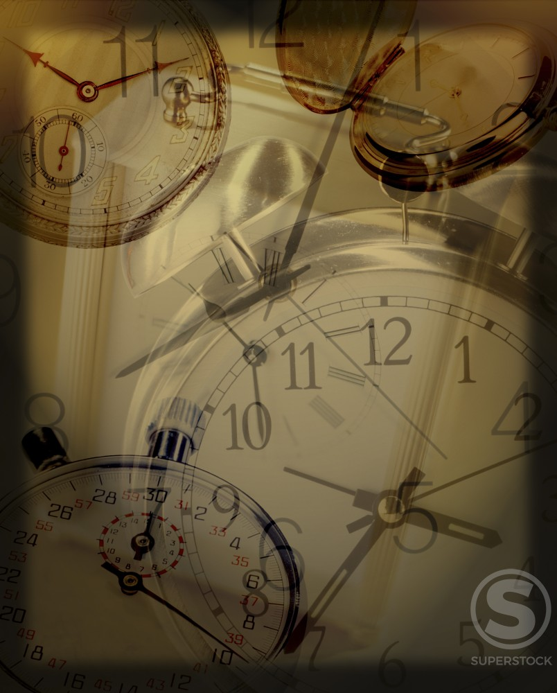 Stock Photo: 1200-131 Close-up of clock faces