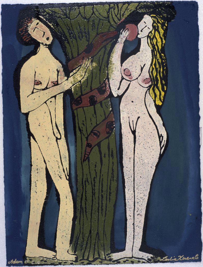 Adam & Eve Leslie Xuereb (b.1959/French)  : Stock Photo