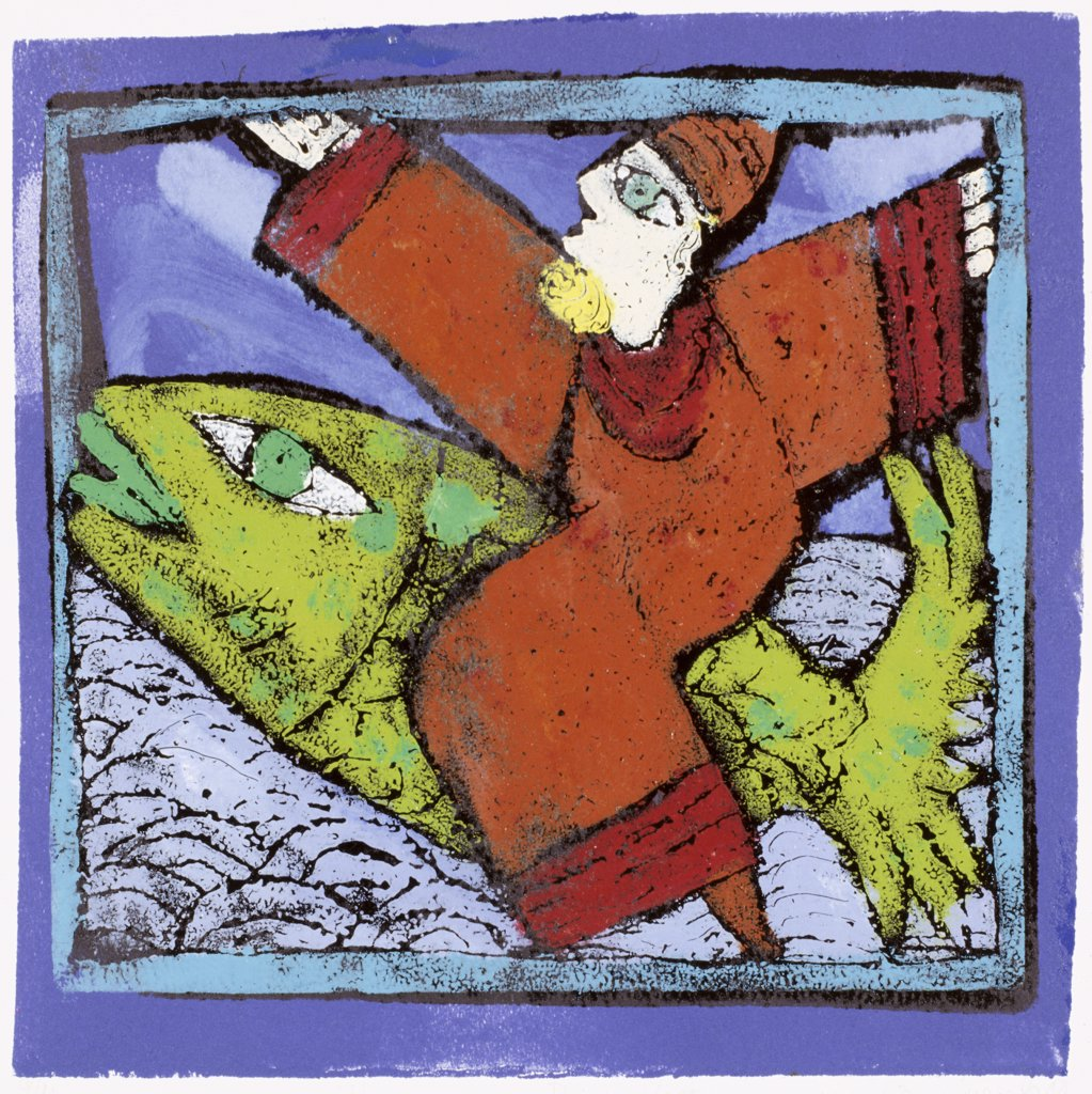 Magician On A Green Fish