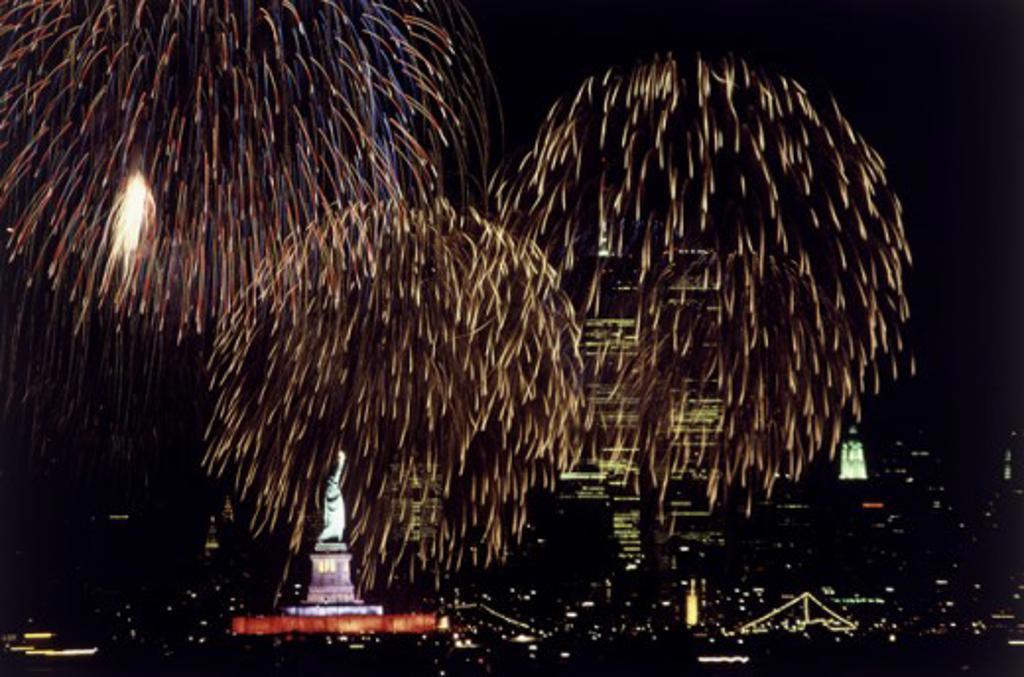 Stock Photo: 122-353 Statue of Liberty July 4, 1986 New York City USA