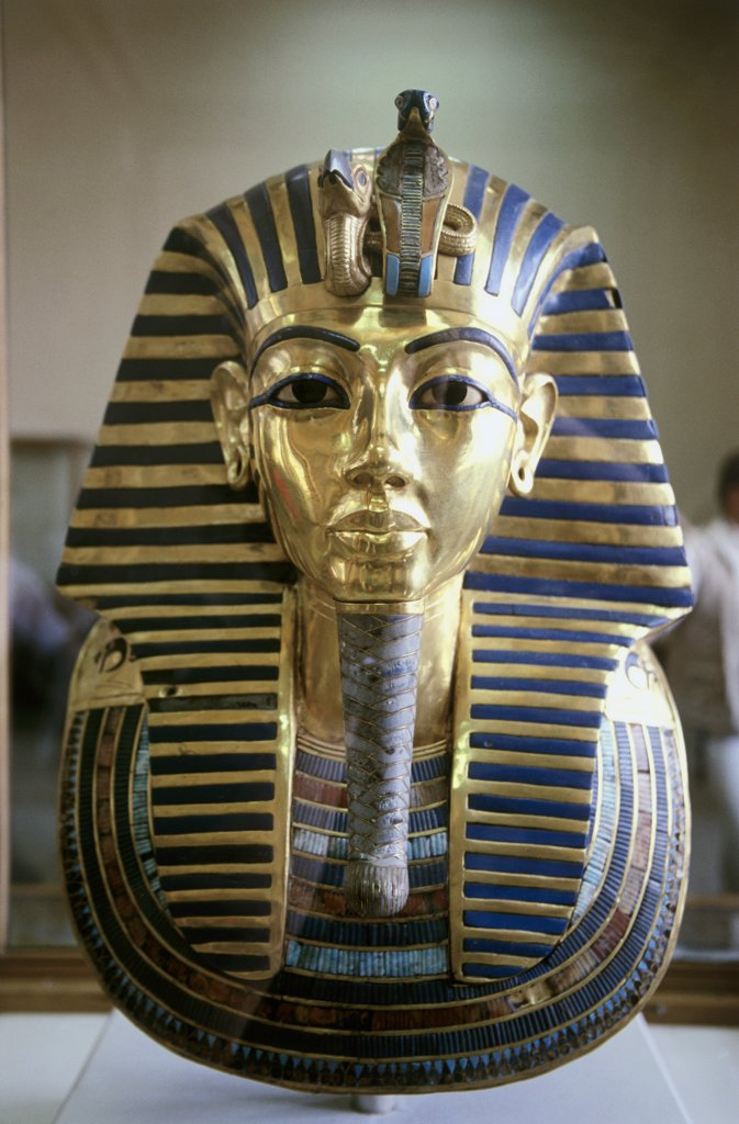 Stock Photo: 1226-100 Funeral Mask of Tutankhamen