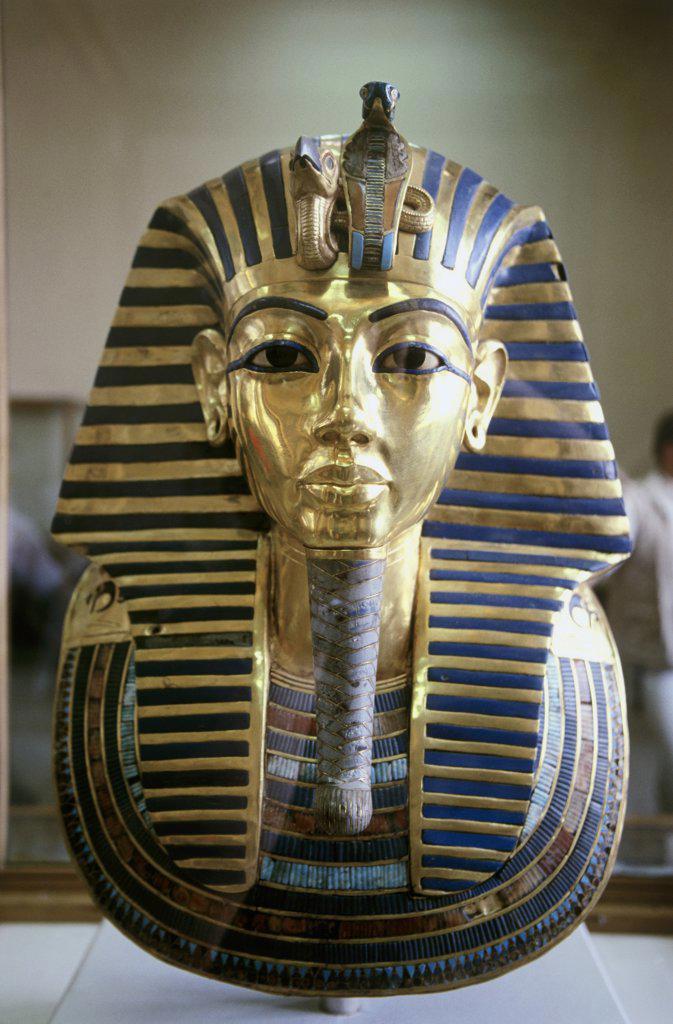 Stock Photo: 1226-100 Funeral Mask of Tutankhamen Artist Unknown Egyptain Museum  Cario