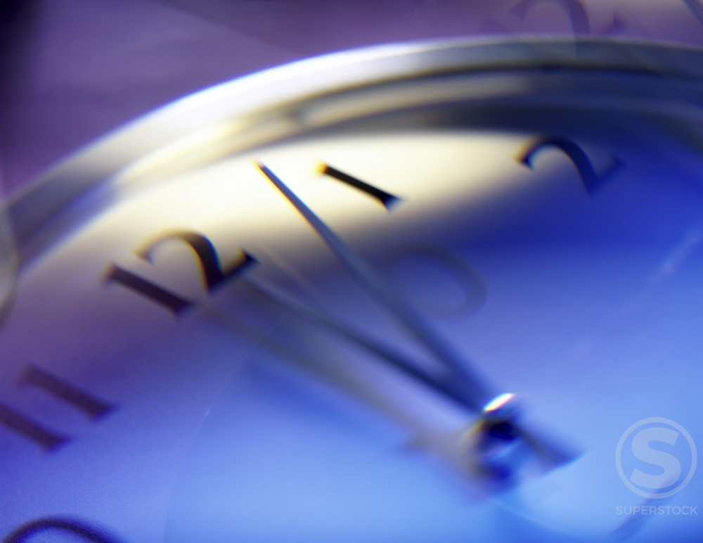 Stock Photo: 1236-120 Close-up of a clock face
