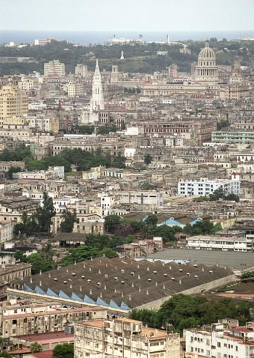 Aerial view of a city, Havana, Cuba : Stock Photo