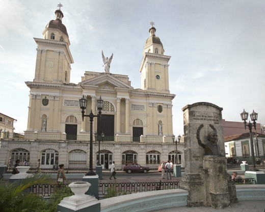 Facade of a cathedral, Santiago de Cuba, Cuba : Stock Photo