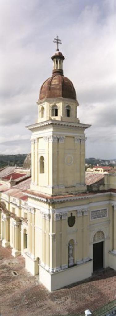 Ancient church building, Santiago de Cuba, Cuba : Stock Photo