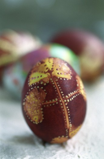 Close-up of an Easter egg : Stock Photo