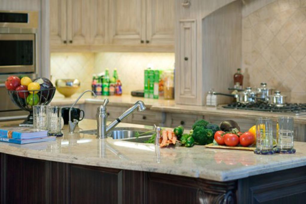 Stock Photo: 1241-1690 Interior of a domestic kitchen