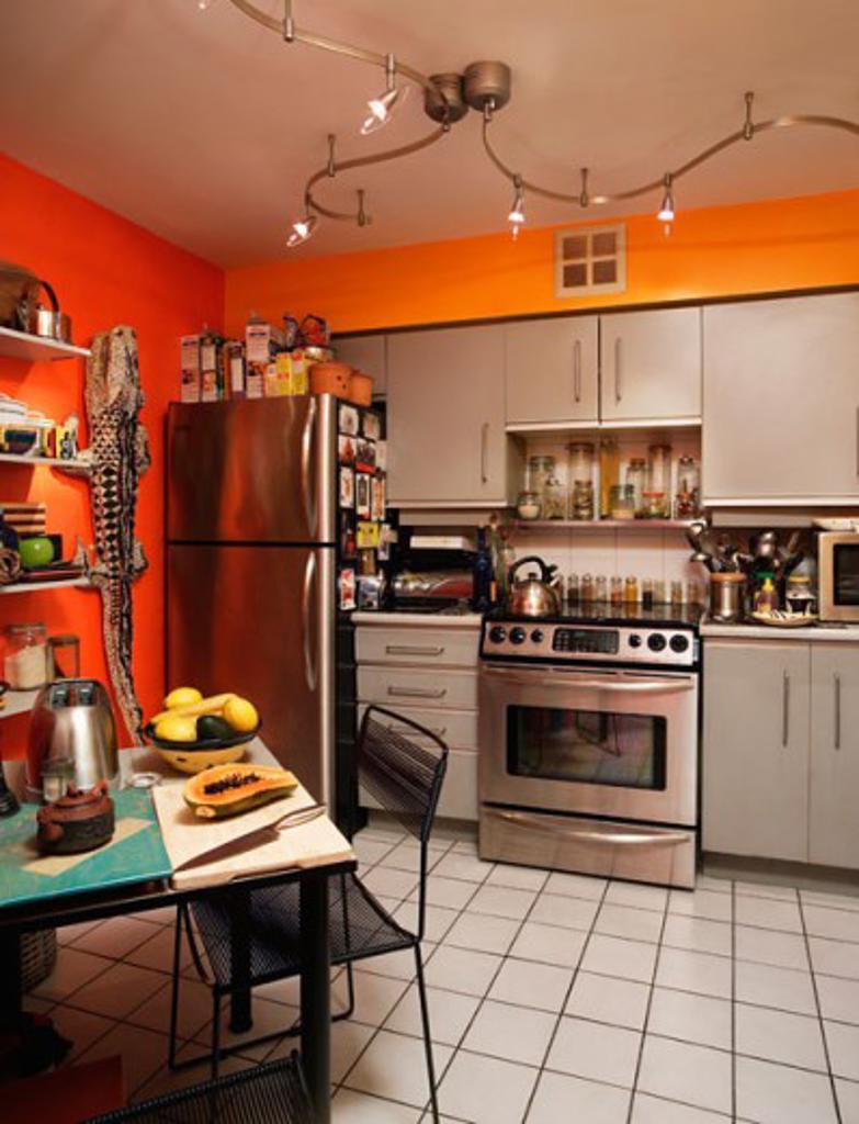 Stock Photo: 1241-1758 Interior of a domestic kitchen